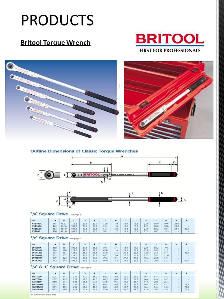 PT Anglo Niaga Jaya Product Britool Torque Wrench